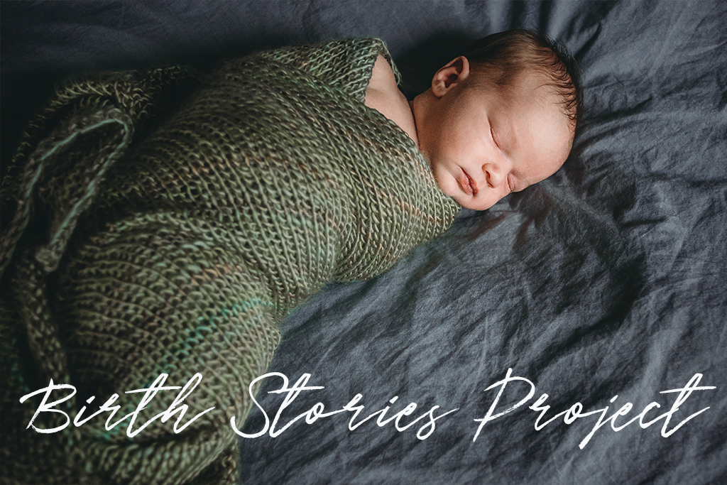 Community Birth Stories project header